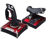 Hahaiyu Vuelo Joystick, Controlador de Juegos de computadora Motores de Doble vibración incorporada, amortiguación Ajustable Botones programables 16, compatibles con Windows XP, 7, 8,10 / Vista