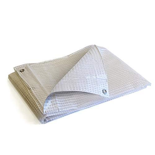 Bâche de protection 3x4 m - Translucide - Résistante - Etanche - Anti-UV - Œillets