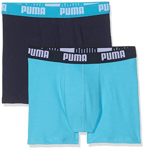Puma Jungen Basic Boxer 2p Unterhose, (Bright Blue 789), 11-12 Jahre (Herstellergröße: 152) (2er Pack)