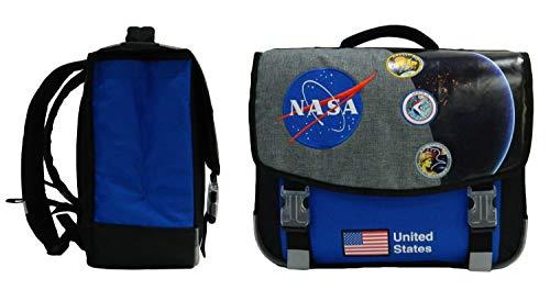 Mochila NASA - Dos compartimentos - 41 cm - Negro