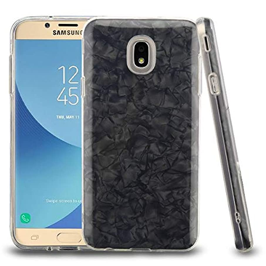 Black Jade Texture Full Hybrid Protector Cover (with Package) for Samsung J737P (Galaxy J7 (2018)) Samsung J7 Refine Samsung Galaxy J7 V 2nd Gen Samsung Galaxy J7 Star