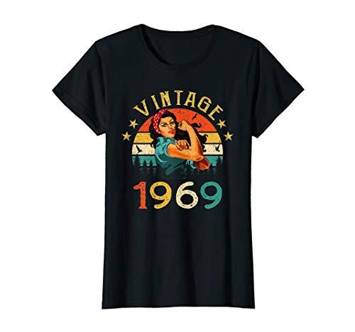 Mujer 52 Años Cumpleaños Nacido en 1969 Vintage 1969 52 Cumpleaños Camiseta