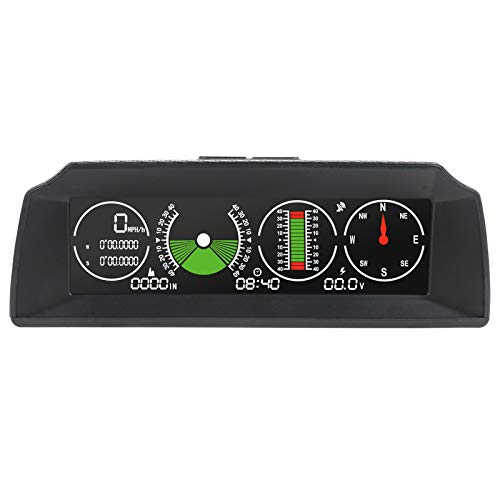 Autool X90 GPS - Medidor de inclinación digital para coche/coche/automóvil, GPS, tacómetro HUD MPH con brújula, autoinclinación en metros para SUV, camionetas, todoterrenos