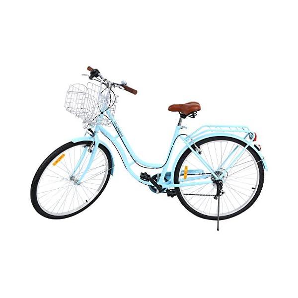 Comfort Bikes MuGuang 28 Inches 7 Speeds City Bike Women's Man's Bike Ladies City Bike Outdoor Sports City Urban Bicycle Shopper Bike (Blue) [tag]