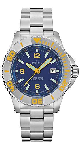 Delma Taucher/-Sportuhr Herren Automatik Metallband 407029 (blau)