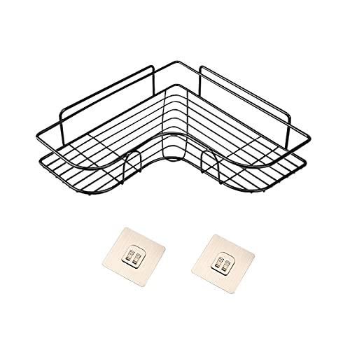 PPuujia Estante de baño para champús de baño, soporte de almacenamiento para cocina, marco de esquina con ventosa accesorios de baño (color 1 pieza con 2 palos)