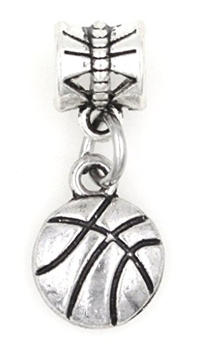 It's All About...You! Mini Basketball Sports Dangling European Bead Charm 91Z