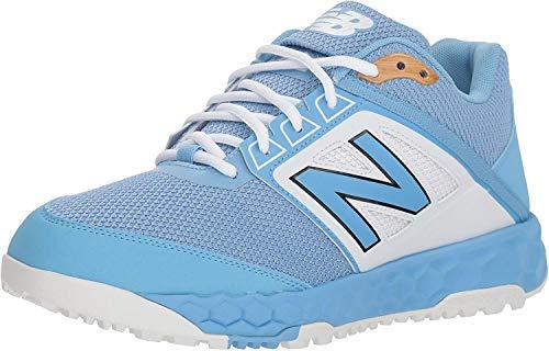 New Balance Men's 3000 V4 Turf Baseball Shoe, Baby Blue/White, 16 W US