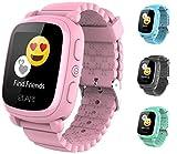 Elari 2G Reloj Inteligente Niño y Niña GPS Localizador y Llamadas Bidireccionales Audio, Chat de Voz, Botón SOS, Pantalla Táctil Grande y Brillante, Juegos KidPhone 2 (Rosa)