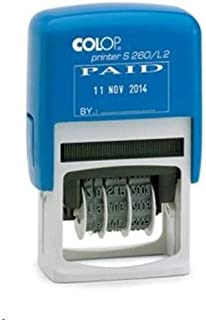 Colop S260 Paid & Date Stamp - 24X45 Mm.