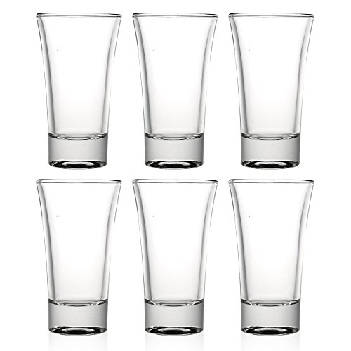 Queensway Select - Vasos de chupito, vidrio, 5 Shot Glasses