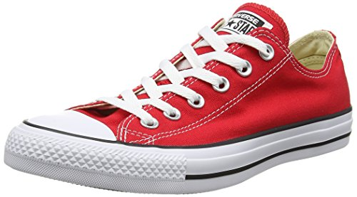 Converse Men's Chuck Taylor All Star Lo Canvas Sneaker Red 9.5 M 11.5 W US