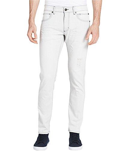 Calvin Klein Jeans Men's Sculpted Slim Jean Beach White, Voyager Indigo, 31W 32L