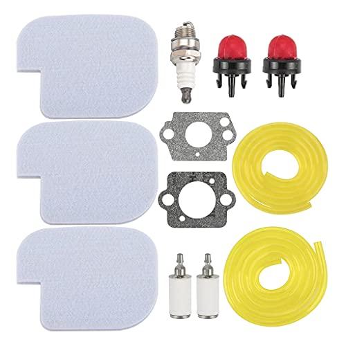 Langlebiges und Kunststoff-Universal-Rasenmäher-Filter-Set, weicher Schwamm 530057925, Rasenmäher-Zubehör, Rasenmäher-Ersatzteile