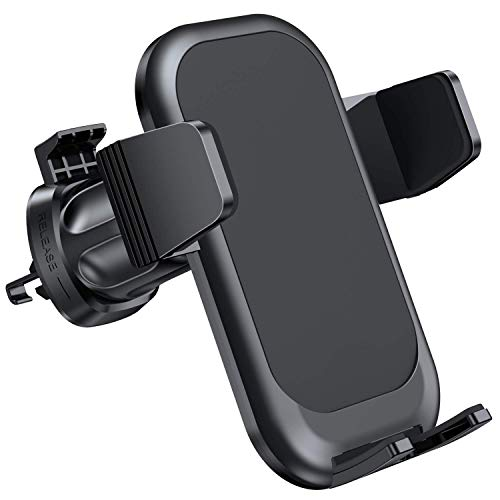 Miracase Car Phone Mount with Metal Clip ,Air Vent Phone Holder for Car with Adjustable Size Up to 7'',One-Handed One Second Operation,Fit with All iPhone and Other Android Phones