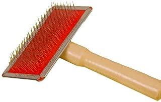 HUAHOO Mini Sheepskin Rug Wool Brush/Cleaner Wooden Rug Brush for Sheepskin Rugs & Natural Rugs