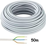 Nym Kabel Mantelleitung NYM-J 3x1,5mm² Kabel | 50m Ring, 3 adriges Installationskabel
