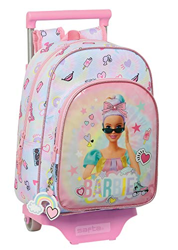 Barbie Mochila Safta Infantil Girl Power con Carro Safta 705, 260x110x340mm