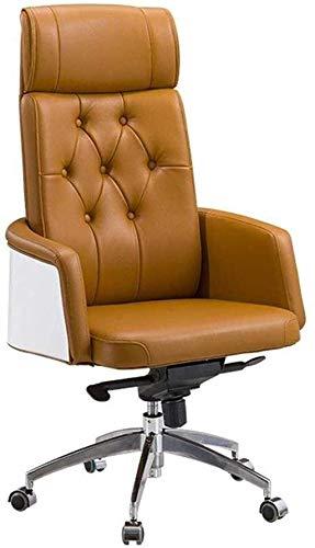 Silla giratoria de oficina para ordenador, silla de juego, silla reclinable de respaldo alto, altura ajustable, silla de escritorio (tamaño: piel de microfibra)