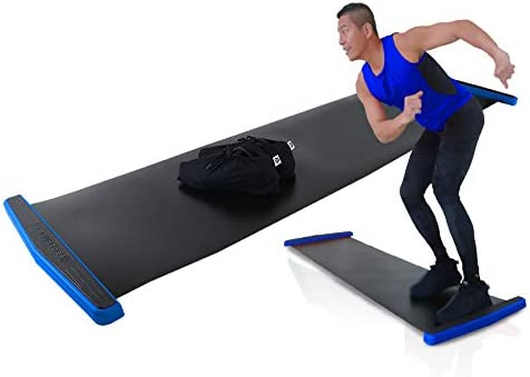 Balance 1 Slide Board EX - Super Smooth Board Home Gym Slide Exercise with Lycra Shoe Sleeve! Super Smooth Surface for The Best result-6FT for All Users