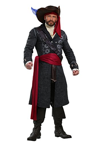 Blackbeard Plus Size Herren Kostüm - 4X