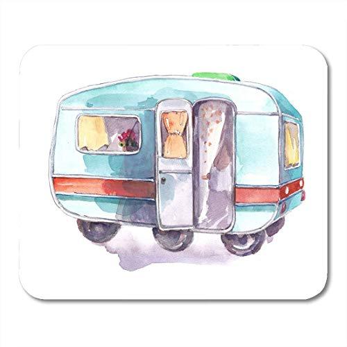 "AOHOT Mauspads Trailer Vintage Motorhome Caravan Travel Adventure Camp Camper Mouse pad 9.5\"" x 7.9\"" for Notebooks,Desktop Computers Accessories Mini Office Supplies Mouse Mats"
