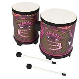 Rehomy Bongos portátil de madera aplique tambor con baquetas especial regalo de Navidad cumpleaños regalo de cumpleaños