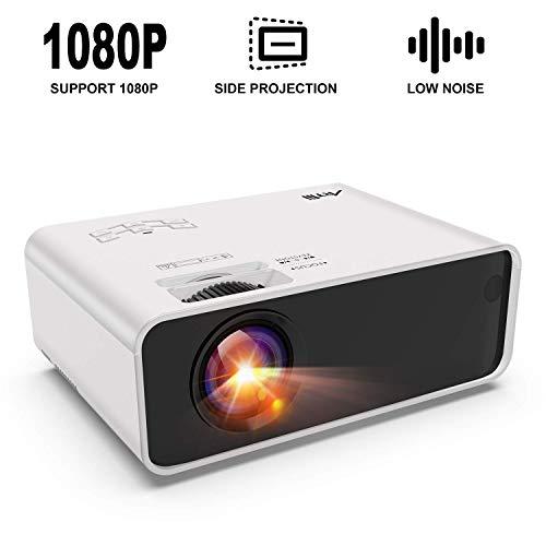 Mini Proyector Portátil, Artlii Proyector Cine en Casa, LED Proyector para Móviles, ± 45 ° 4D Keystone Correction, Zoom, Bajo Nivel de Ruido, para TV Box / Smartphone / Android / iPhone / PC
