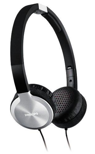 Philips SHL9450/10 Kopfhörer (mit Bügel, 40 mm Lautsprechertreiber 1,2 m Kabellänge) schwarz/silber