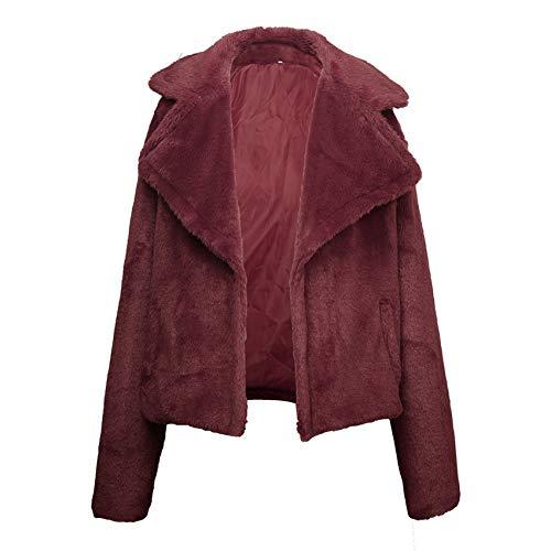Winter Cardigan Lapel Solid Color Wool Ladies Jacket