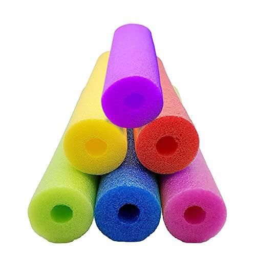 Runsmooth 6 Piezas Churro Fideos De Piscina 60 Inches, Flexible Churro Flotador de Espuma de natación/Piscina, para Niños Adultos Flotador Ayuda Formación Principiantes, Colorido