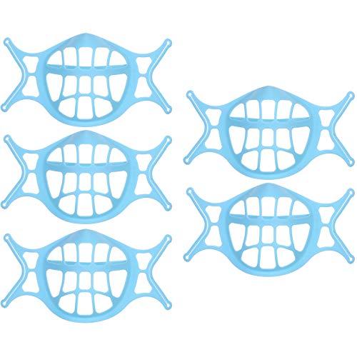 Soporte para Mascarilla 3D, Estructura Interna De Silicona, Soporte Protector para Lápiz Labial Facial De Silicona Lavable Reutilizable (5pc)