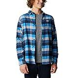 Columbia Cornell Woods - Camisa de manga larga para hombre, Azure Blue Multi Buffalo Check, XX-Large