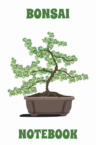 Bonsai Tree - Notebook - White - Green - College Ruled