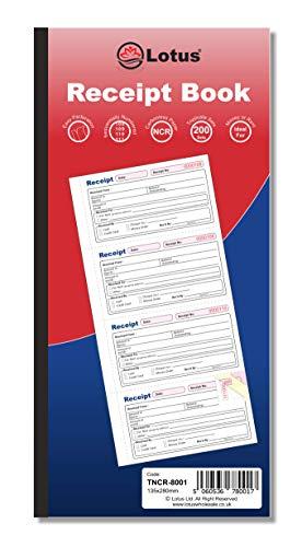 Libro de recibos triplicado   Libro de recibos de 3 partes triplicado   Libro de recibos de dinero y alquiler - TNCR-8001