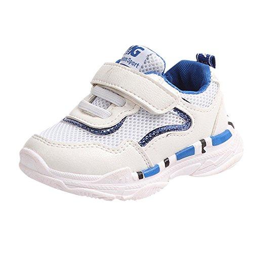 FeiliandaJJ Babyschuhe Kleinkind Jungen Mädchen Kinder Casual Turnschuhe Mesh Weichen Laufenden Brief Schuhe (EU:29(17.5cm), Blau)