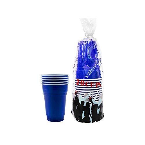 Pack de x20 Original Blue Cups Officiels | Gobelets Américains 25cl Bleus | Beer Pong | Qualité Premium | Gobelets en Plastique Réutilisables | Lavables Main et Lave-Vaisselle | OriginalCup®