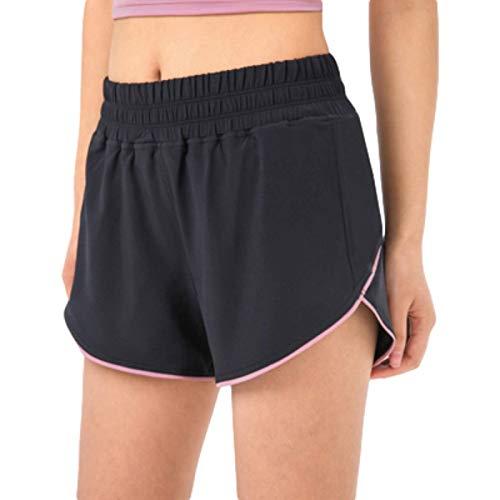 Pantalones Cortos de Mujer Pantalones Cortos Deportivos Ligeros y Transpirables de Cintura Alta Holgados Informales cómodos Pantalones Cortos para Correr L