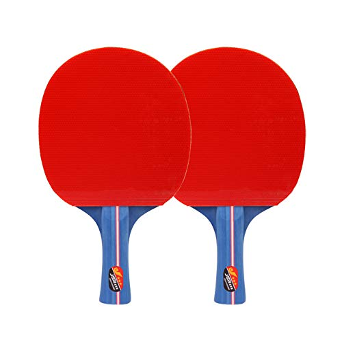 Affordable HUATINGRHPP Ping Pong Table Tennis Racket, Three-Star Table Tennis Racket Set with Two Ra...