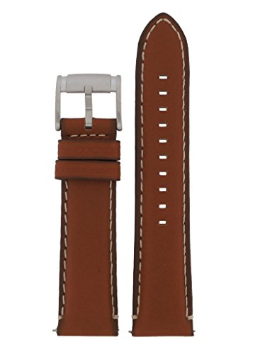 Fossil Uhrband Wechselarmband LB-FS5060 Original Ersatzband FS 5060 Uhrenarmband Leder 22 mm Braun