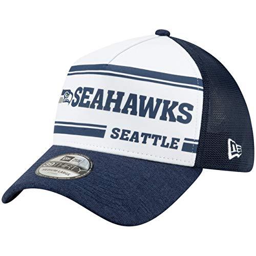 New Era Seattle Seahawks 39thirty A Frame Cap NFL 2019 Sideline Home 1970 Navy - L-XL