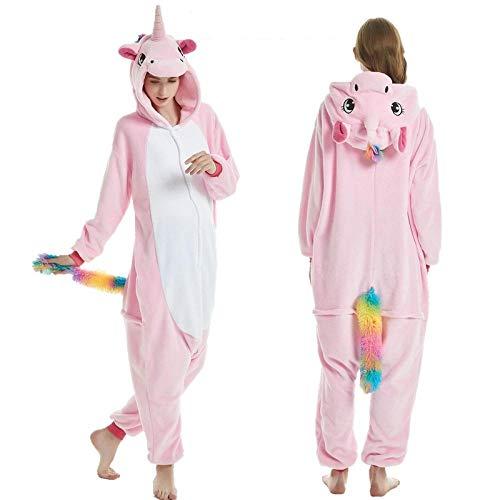 MUZIM Pigiama Homewear Inverno con Cappuccio Cosplay Pigiameria Donna Camicia da Notte-Pink CaiWei_XL