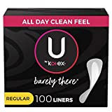 U by Kotex Barely There Thin Panty Liners, Light...