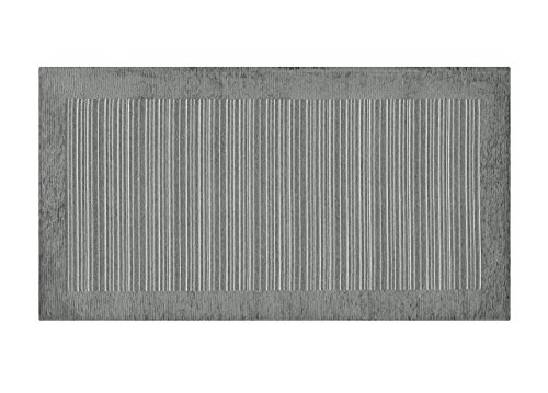 BIANCHERIAWEB Tappeto Passatoia Runner Cucina Antiscivolo Antimacchia Lavabile Stripes Suardi 55x190 Grigio