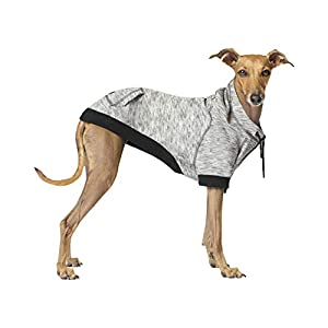 Canada Pooch   Hero Dog Hoodie   Pullover Spacedye Dog Sweater (16, Grey Mix), 16 (15-17″ Back Length)