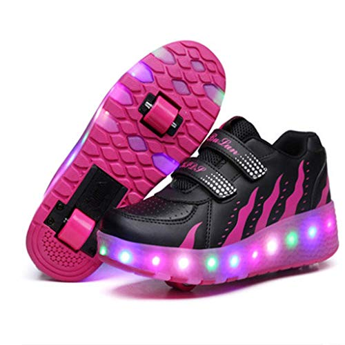Outer Material: Synthetic,Inner Material: Manmade.,Closure: Lace-Up.,Super cool & easy to learn to roll, fashion at day, cool lighting at night. the best and suitable gift for kids.,High-quality cloth, Comfortable and breathable mesh upper and shoe lining, wear-resistant TPR soles, Good elasticity.,Shoes with botton to control the wheel to hide or out,can be as a normal sneaker.