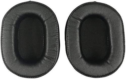 オーディオテクニカATH-MSR7ATH-MSR7BK ATH-M50x ATH-M40X ATH-M30 ATH-M50ATH-M50sヘッドフォンと互換性のある交換用イヤーパッドクッション (黒)