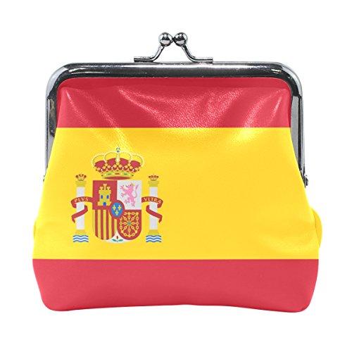 Lianchenyi Mini-Geldbörse, Flagge von Spanien, für Damen und Mädchen