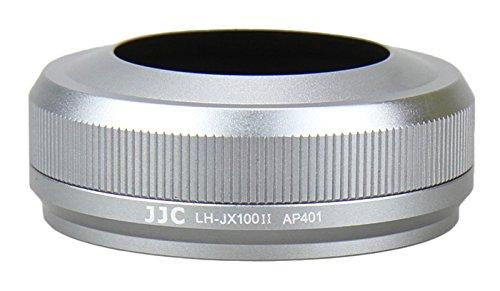 JJC LH-JX100II Silberfarben Gegenlichtblende (Sonnenblende, Streulichtblende) inkl. Adapterring für Fujifilm FinePix X100, X100s, X100T - ersetzt LH-X100/AR-X100