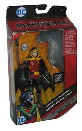 DC Comics Multiverse Damian Wayne Robin (Build King Shark) Action Figure 6 Inches